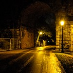 Under the bridge to Avenham Park at night
