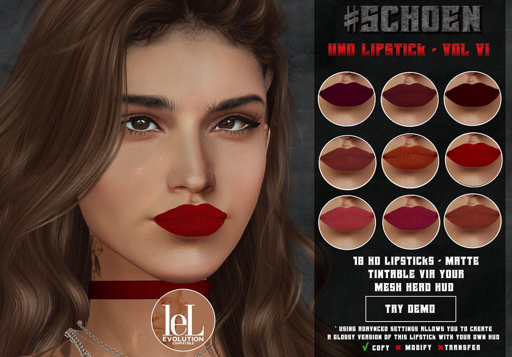 #SCHOEN - Uno Lipstick Matte - Vol. VI