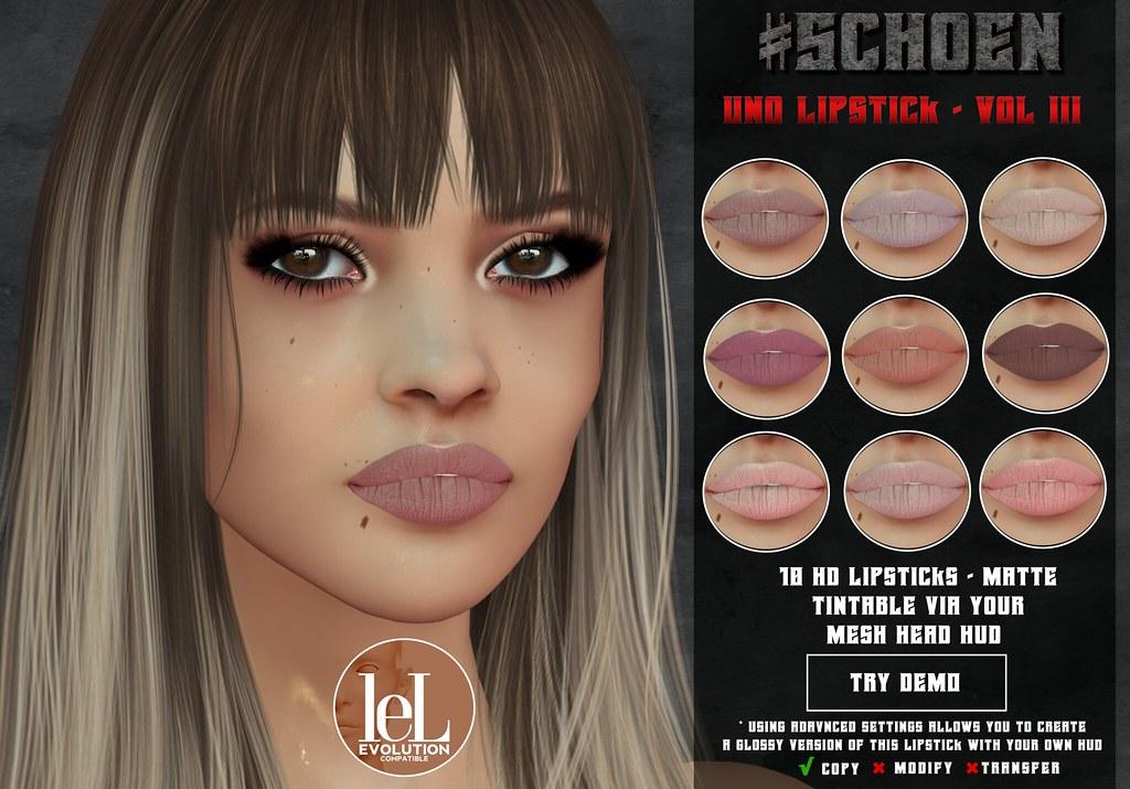 #SCHOEN – Uno Lipstick Matte – Vol. III