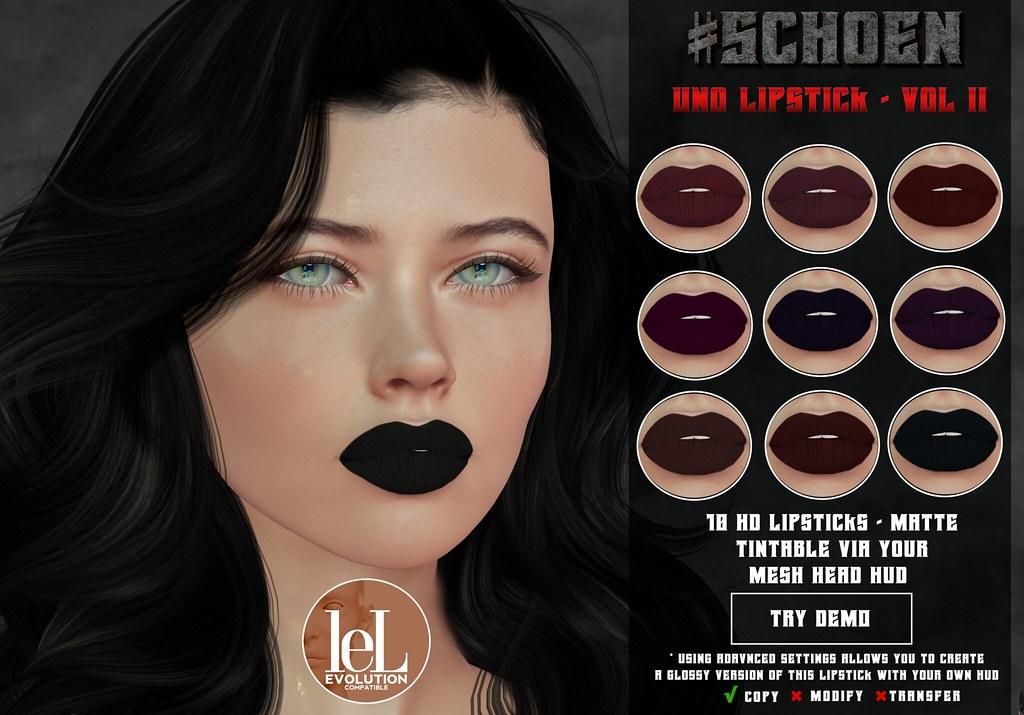 #SCHOEN – Uno Lipstick Matte – Vol. II