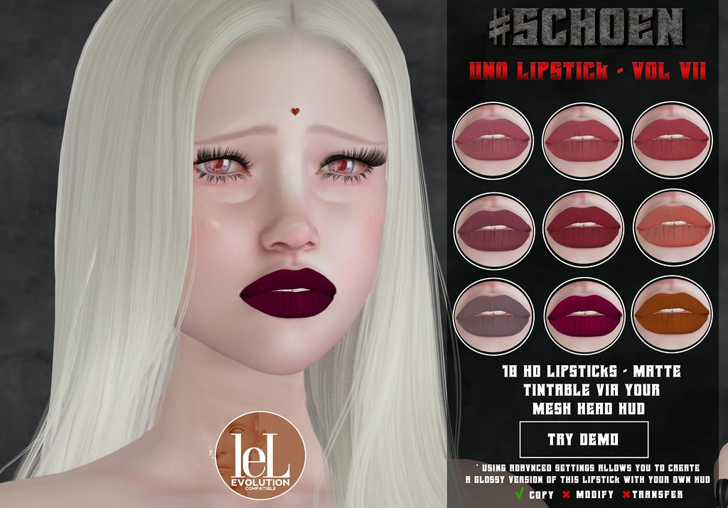 #SCHOEN – Uno Lipstick Matte – Vol. VII