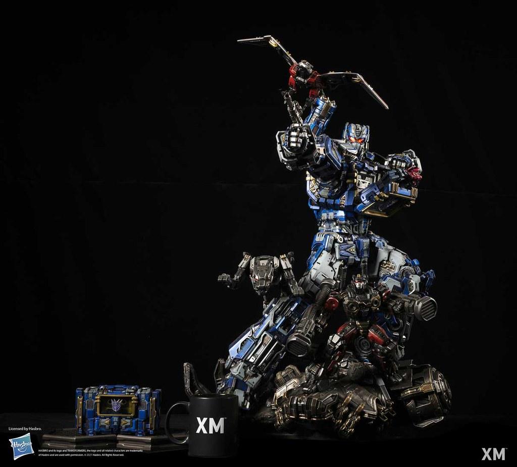 XM Studios《變形金剛》音波(Soundwave)1/10 比例全身雕像 諜報大師與磁帶部隊共同出擊!