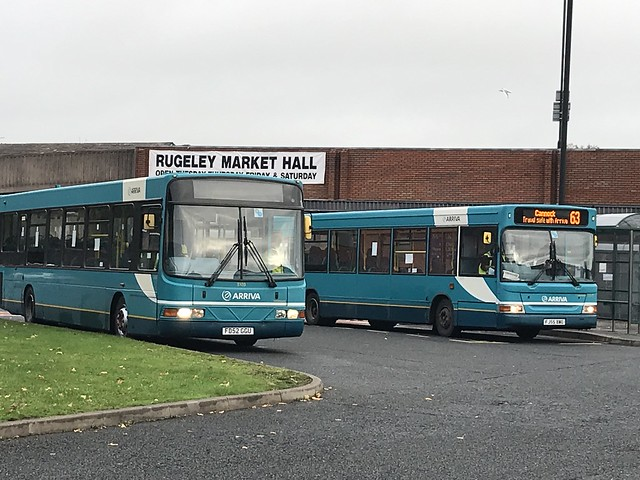 AMN 3703 and 2375 @ Rugeley bus station