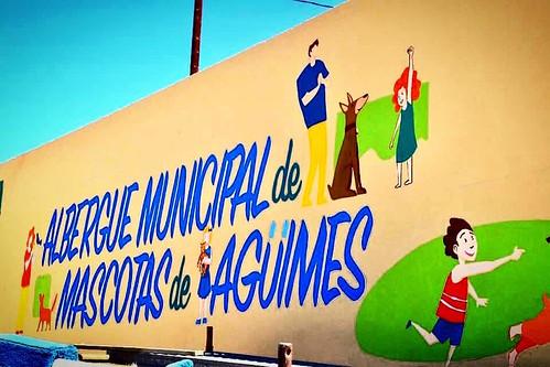 Mural del Albergue Municipal de Mascotas de Agüimes