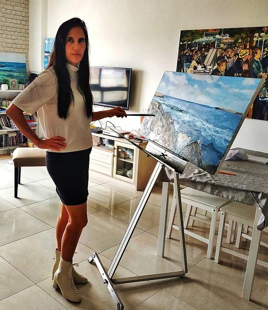 Talia Toeg Israeli Artist Painter plein air painting טליה טואג ציירת אמנית ישראלית ציורי נוף           Un peintre israélien