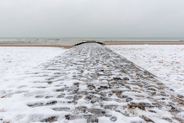 Snow on the beach this weekend