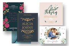 wedding card and greeting card, or invitation card