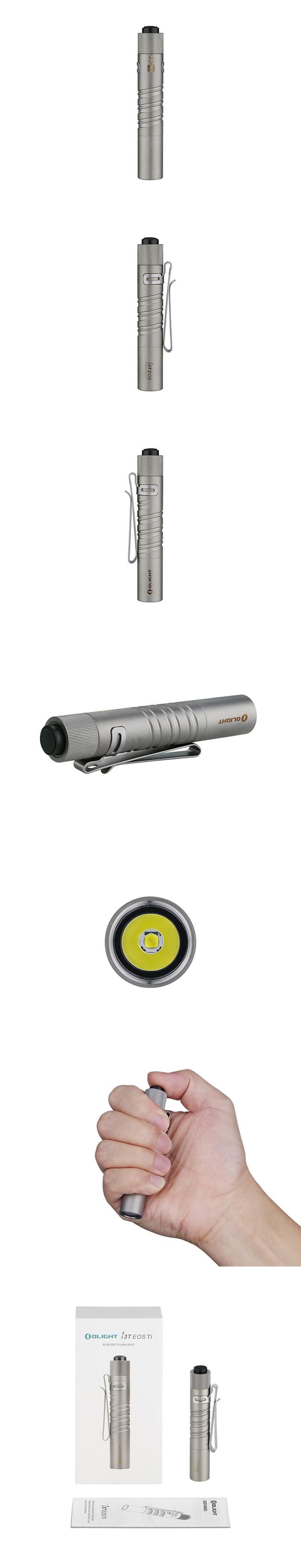 【錸特光電 OLIGHT 台灣總代理】Olight i3T Ti  Titanium  180 流明 鈦合金 AAA筒 EDC手電筒_2