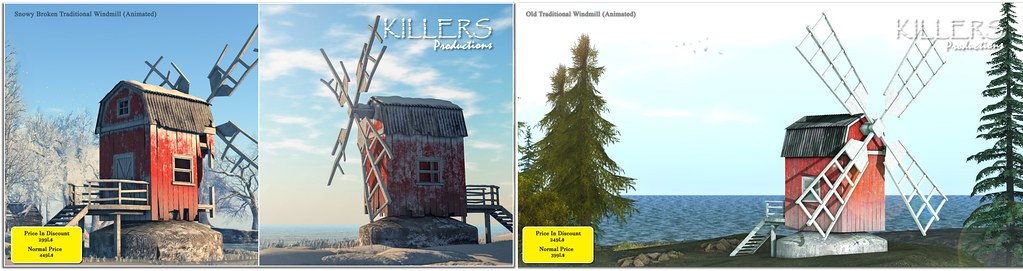 """Killer's"" Old &Snow Traditional Windmills On Discount @ Tres Chic Starts from 17th January"