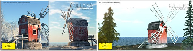 """""""Killer's"""" Old &Snow Traditional Windmills On Discount @ Tres Chic Starts from 17th January"""