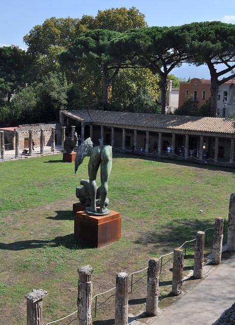 Caserne des gladiateurs, Pompéi, Campanie, Italie.