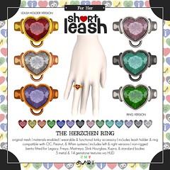 .:Short Leash:. The Herzchen Ring