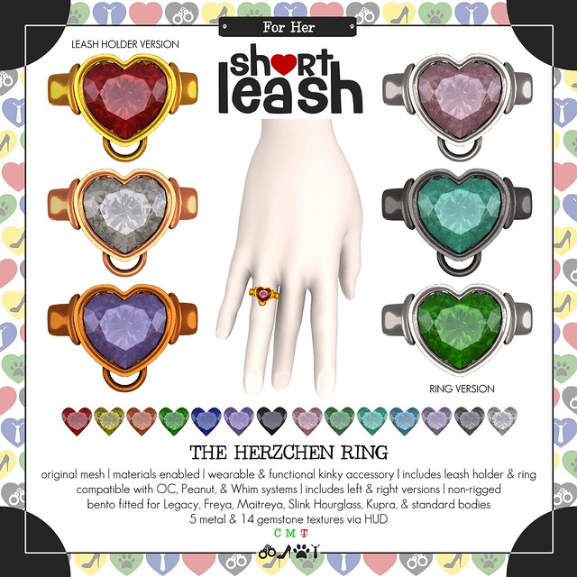 .:Short Leash:. The Herzchen Ring