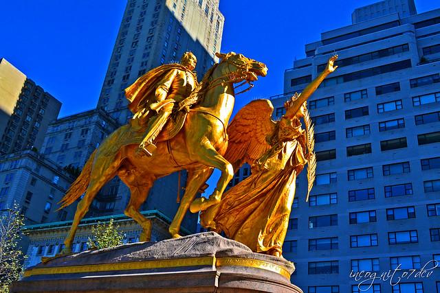 Sherman Memorial in Grand Army Plaza 5th Ave E59 St near Central Park & The Plaza Hotel Manhattan New York City NY P00776 DSC_2061