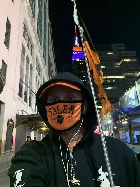 Ryan Janek Wolowski Halloween Witch on 34th Street NYC USA October 31st 2020