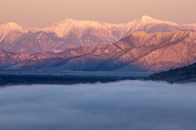 Mountains of morning glow