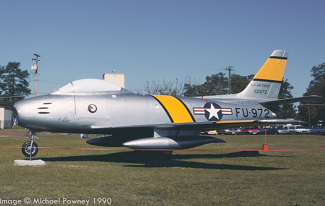 23238 Canadair CL-13A Sabre marked as F-86F 51-12972, preserved/displayed at Seymour Johnson AFB