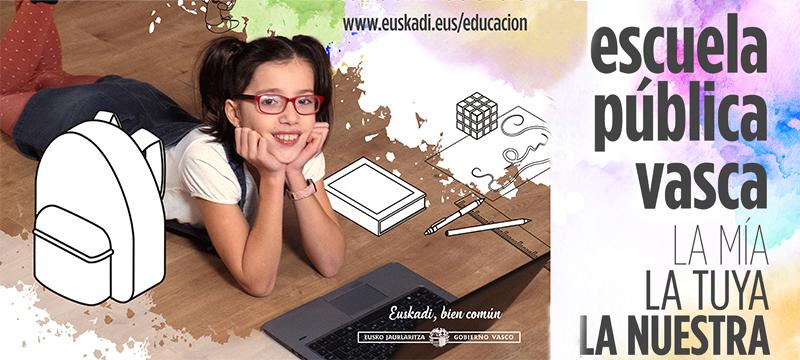Cartel de la campaña de matriculación 2021/2022
