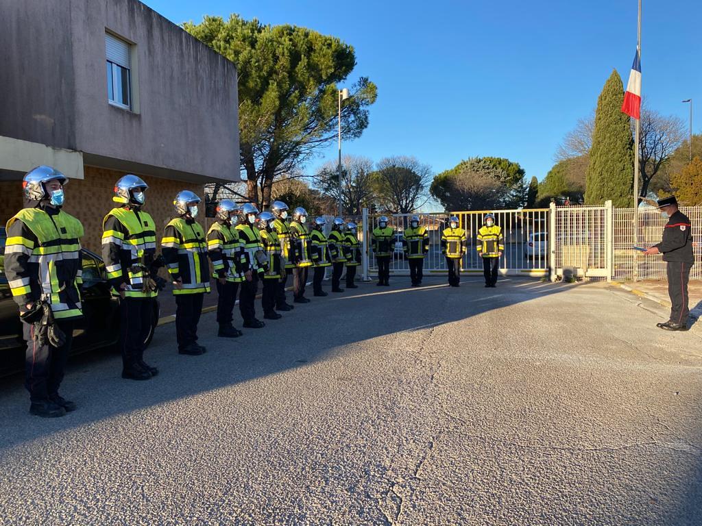Les Pompiers13 réunis en hommage à l'Adjudant Delbreil