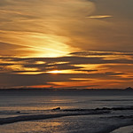 18. Jaanuar 2021 - 8:36 - Spittal, Northumberland, Sunrise over Lindisfarne from Spittal beach
