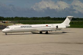 YV-04C. MD-82. Aeropostal. SDQ.