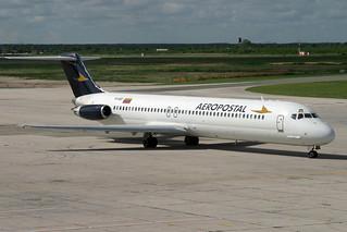 YV-42C. DC-9/50. Aeropostal. SDQ.