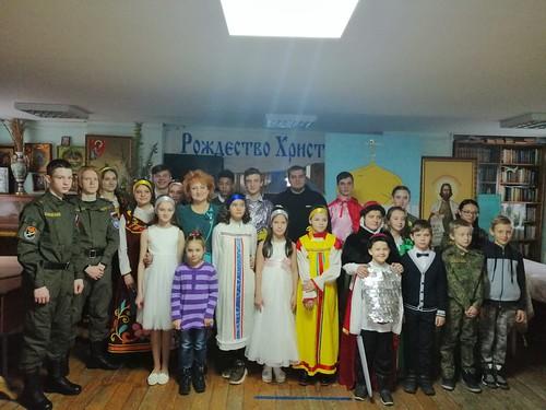 18 января 2021, Воспитанники архиерейского казачьего конвоя посетили рождественский концерт в воскресной школе