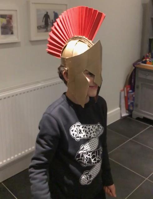 Sammy's Spartan Helmet