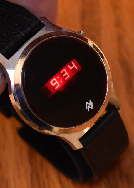 Vintage National Semiconductor Men's Digital Quartz Watch With Red LED Display, Case Made In Hong Kong, Circa 1976 - 1977