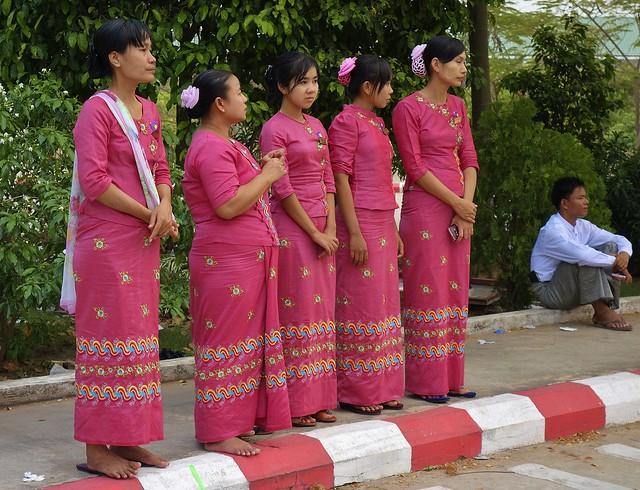 MYANMAR ,burma - Naypyidaw /Hauptstadt, rund um die Friedenspagode-Uppatasanti-Pagode,  eine Hauptstadt ohne Touristen , 78140/13318