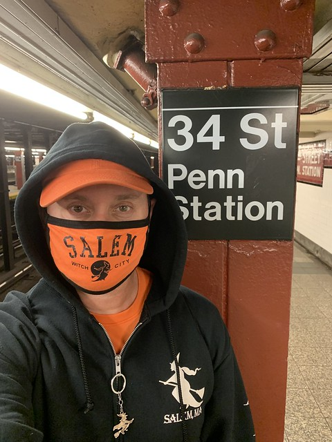 Ryan Janek Wolowski riding the NYC MTA Subway 34th Street Penn Station New York City USA Halloween October 31st 2020