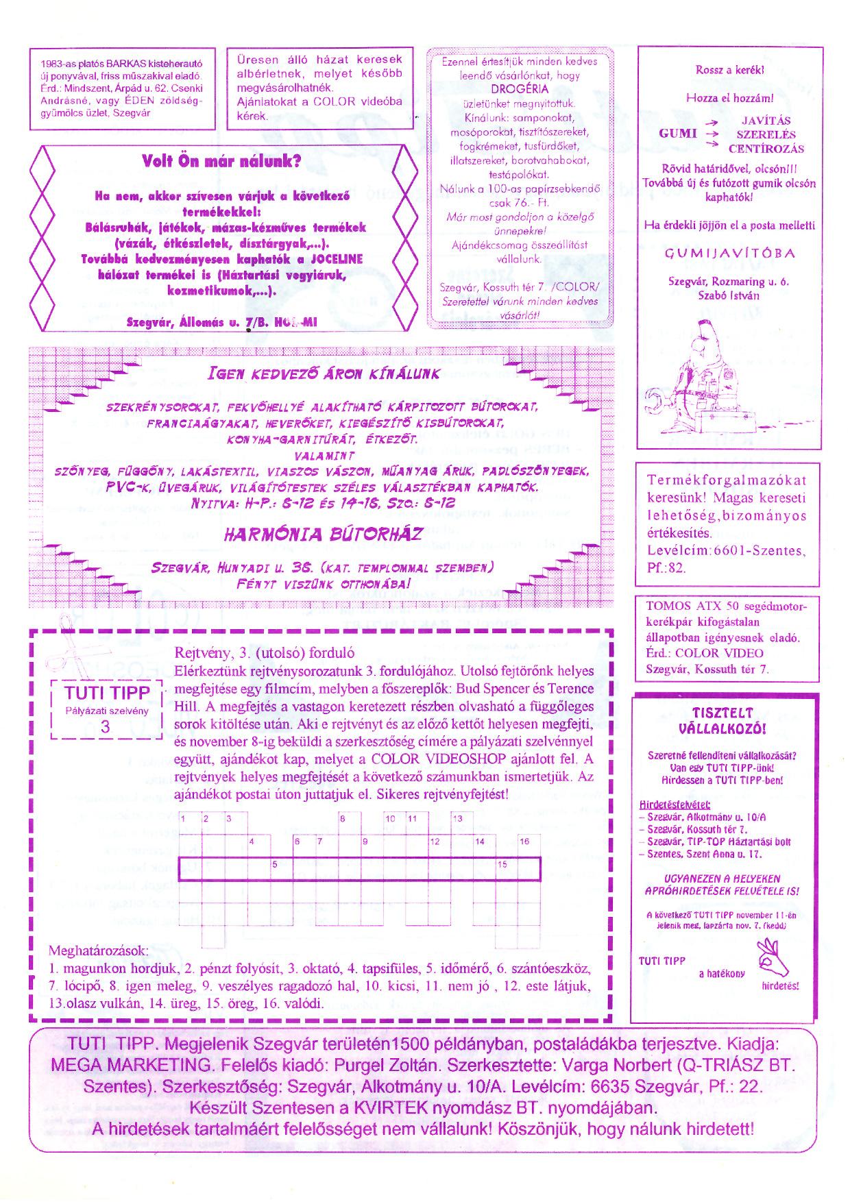 014 Tuti Tipp reklámújság - 19951028-006. lapszám -2.oldal - I. évfolyam.jpg