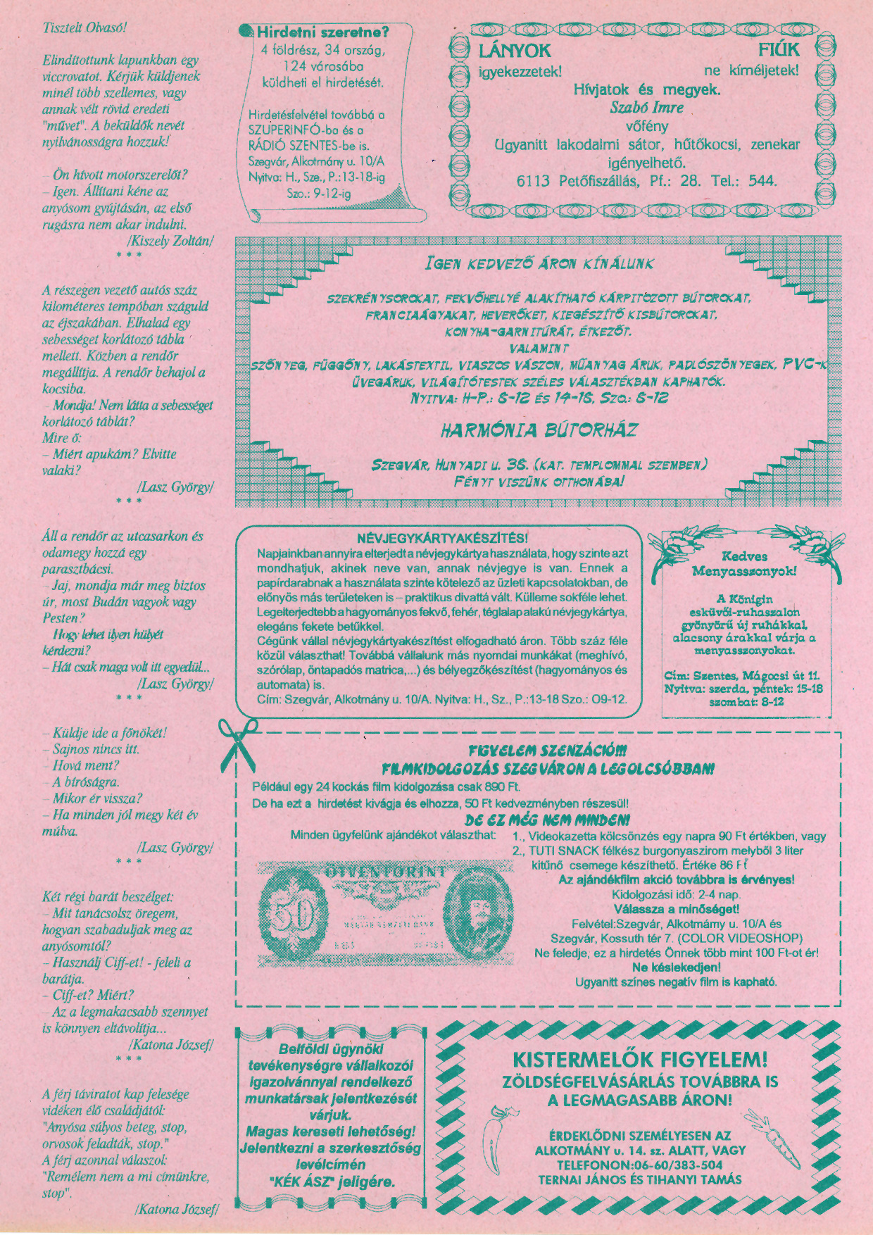 008 Tuti Tipp reklámújság - 19950930-004. lapszám -2.oldal - I. évfolyam.jpg