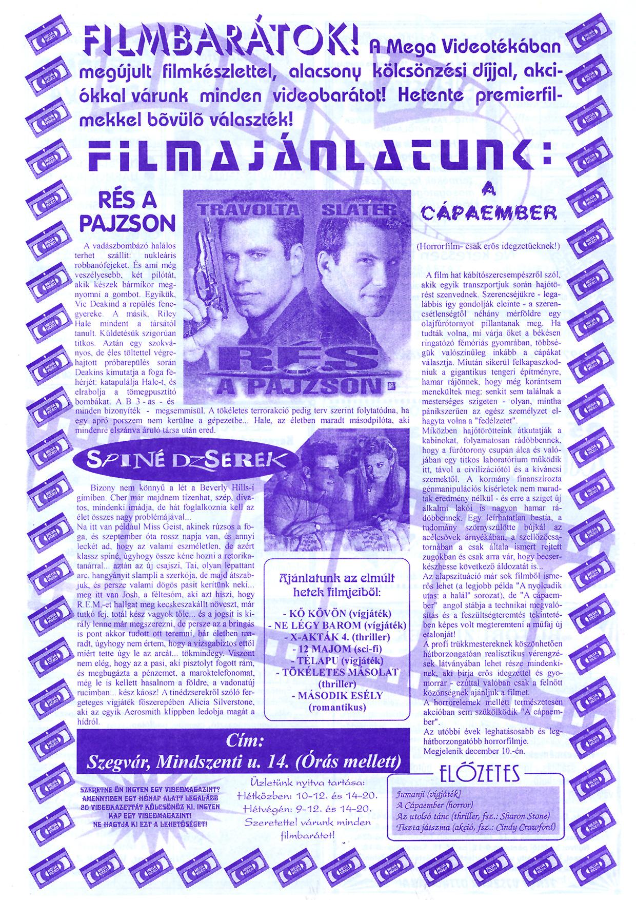 079 Szegvári Tuti Tipp reklámújság - 19961207-036. lapszám - 3.oldal - II. évfolyam.jpg