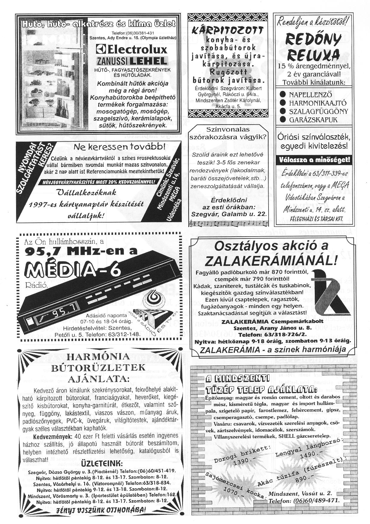 076 Mindszenti Tuti Tipp reklámújság - 19961130-012. lapszám - 2.oldal - II. évfolyam.jpg