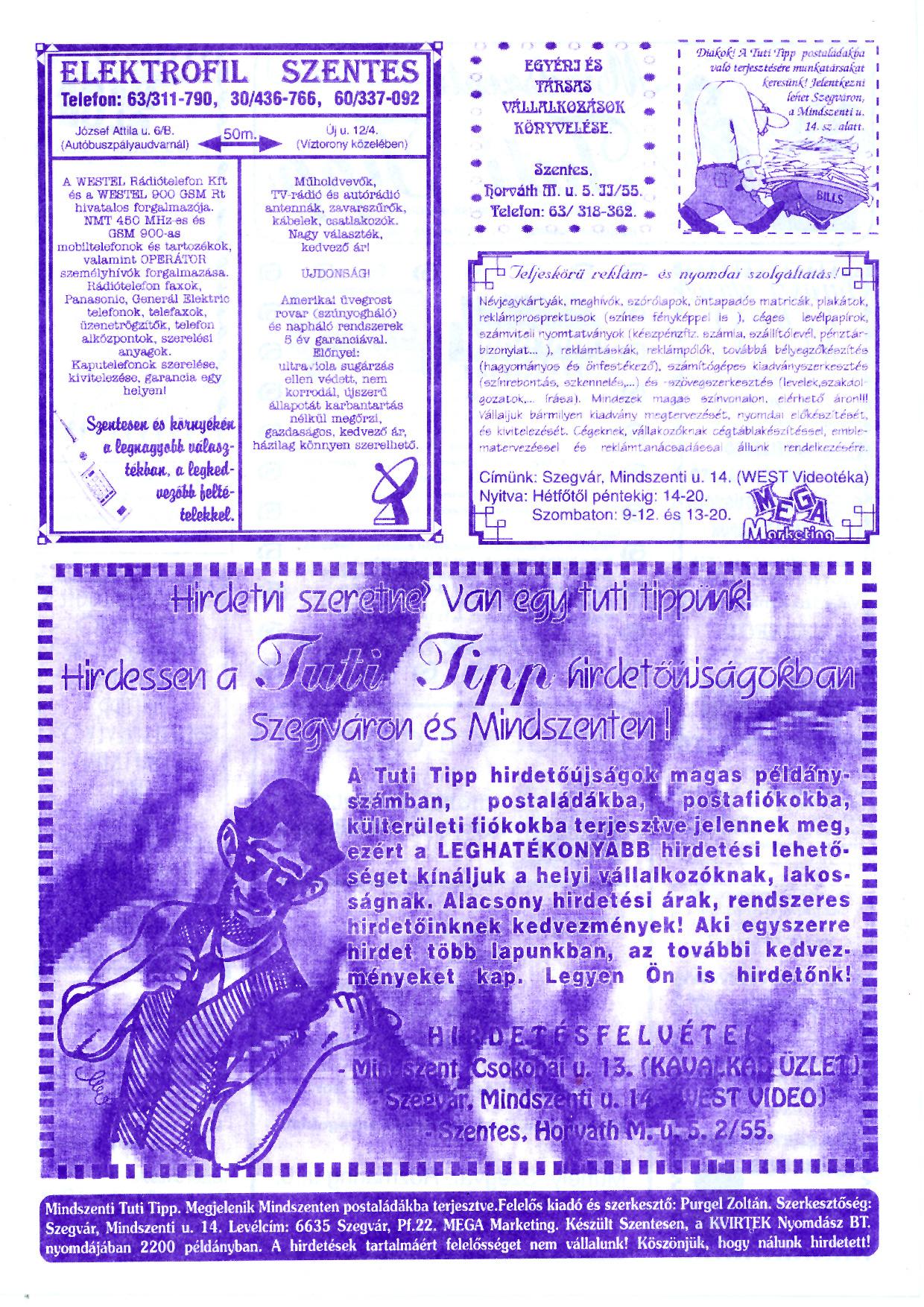 028 Mindszenti Tuti Tipp reklámújság - 19960615-001. lapszám - 2.oldal - II. évfolyam.jpg