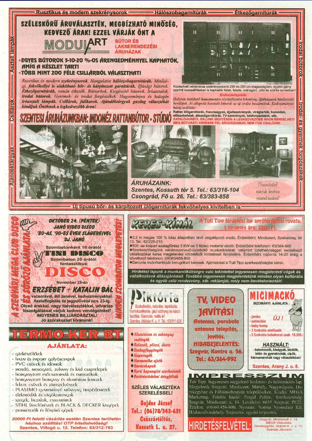 040 Tuti Tipp reklámújság - 19971018-072. lapszám - 2.oldal - III. évfolyam.jpg