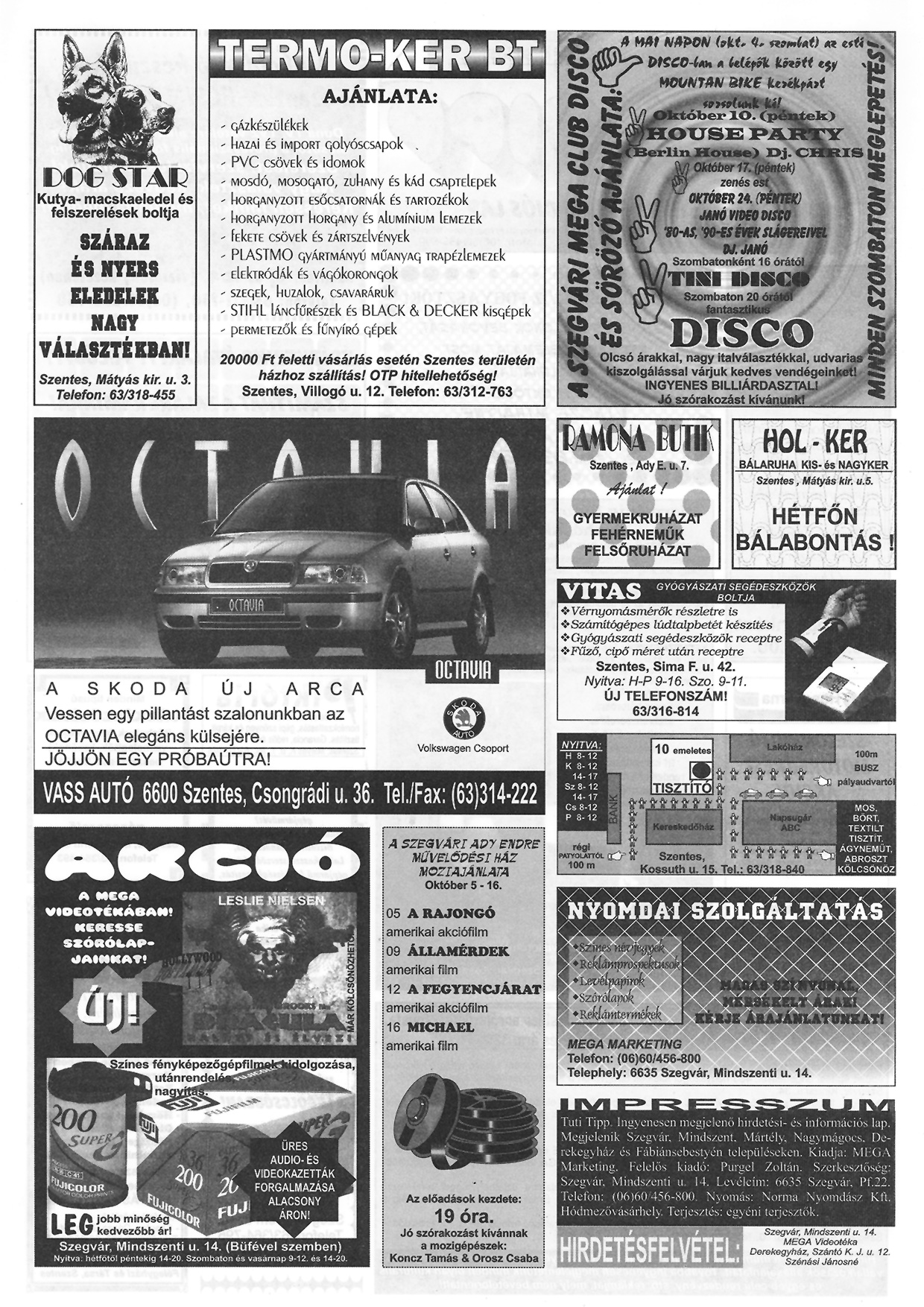 038 Tuti Tipp reklámújság - 19971004-071. lapszám - 2.oldal - III. évfolyam.jpg