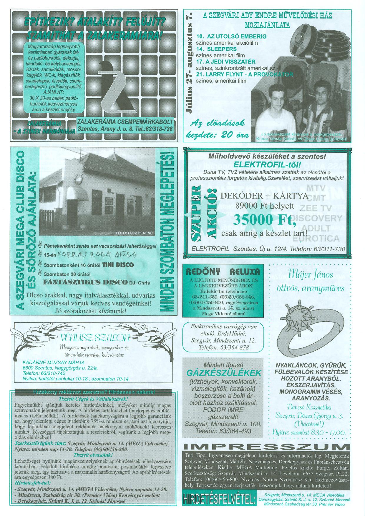 030 Tuti Tipp reklámújság - 19970809-067. lapszám - 4.oldal - III. évfolyam.jpg