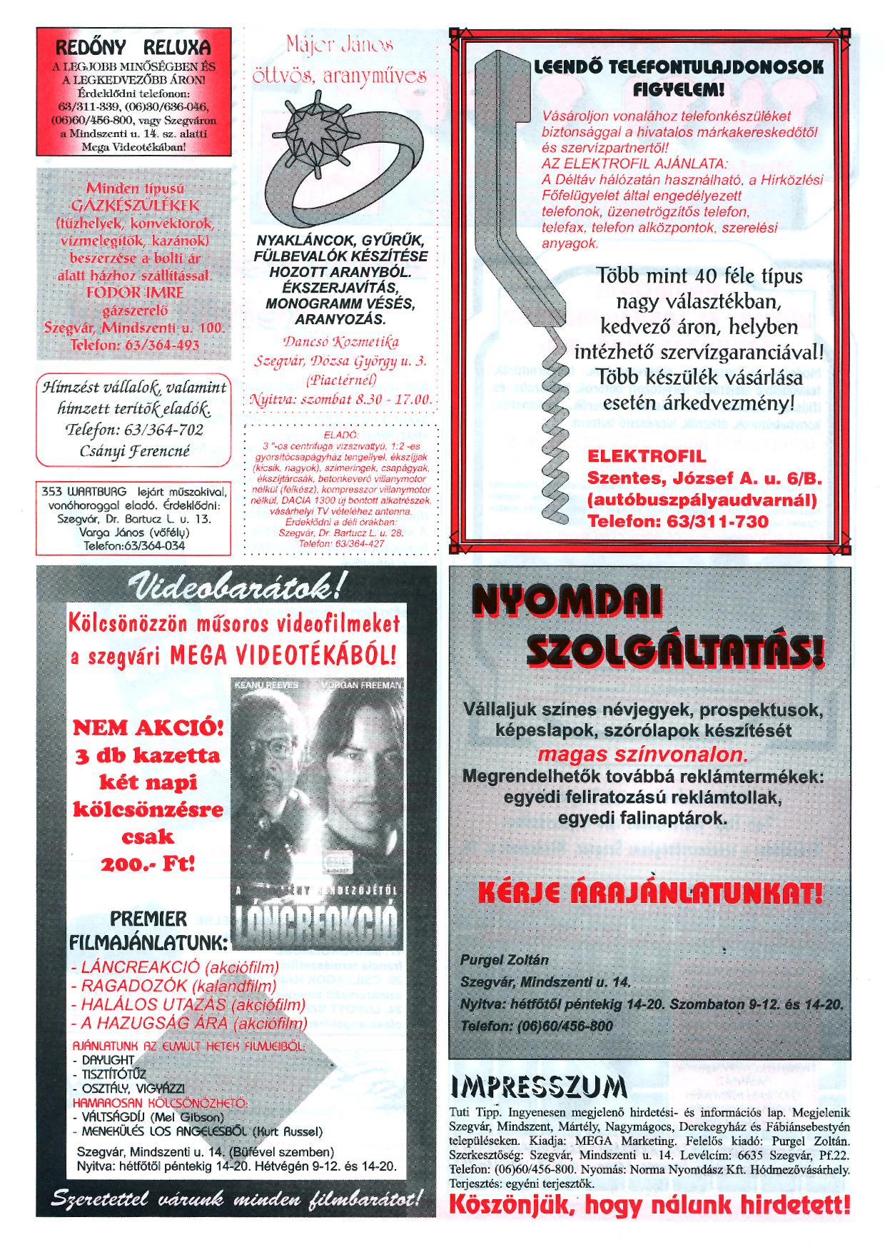 024 Tuti Tipp reklámújság - 19970712-065. lapszám - 2.oldal - III. évfolyam.jpg