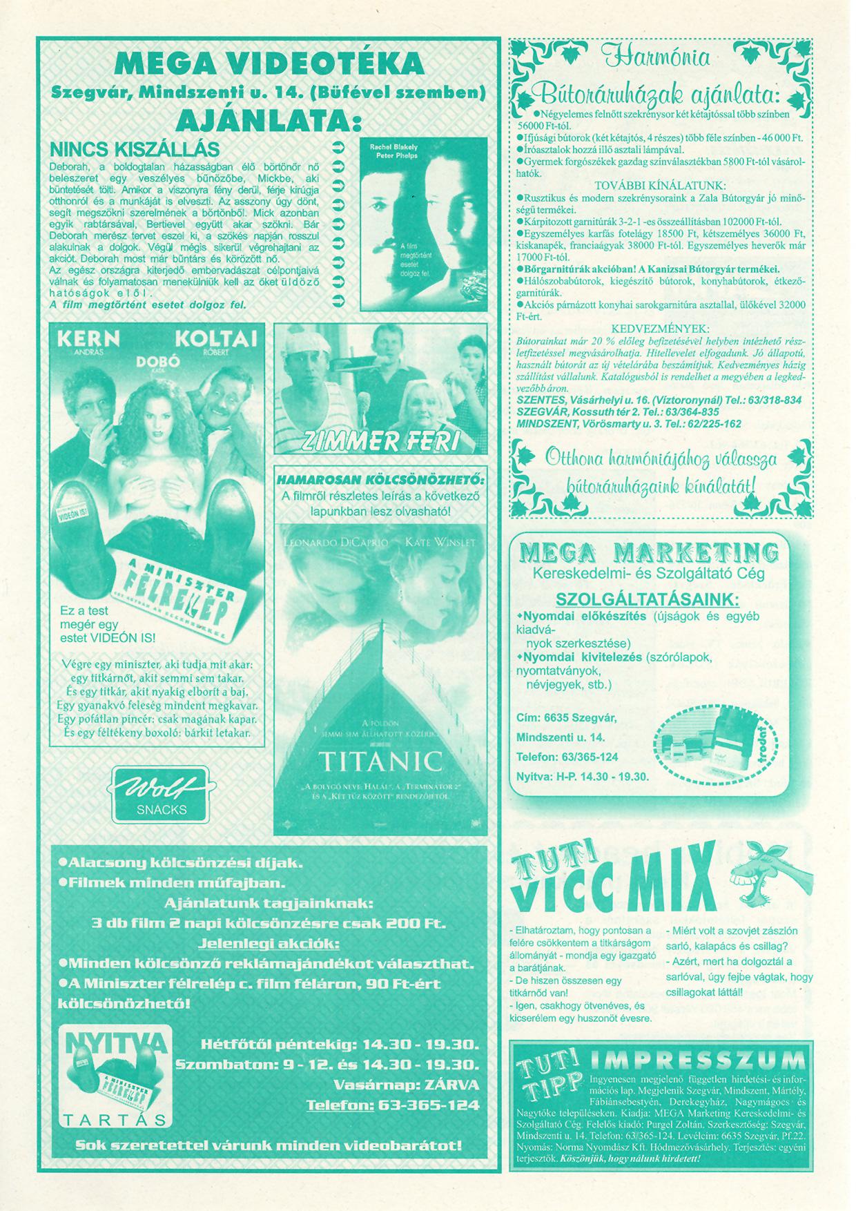 044 Tuti Tipp reklámújság - 19980919-093. lapszám - 2.oldal - IV. évfolyam.jpg