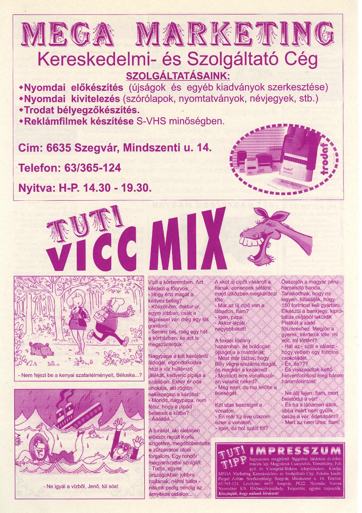 038 Tuti Tipp reklámújság - 19980905-002. lapszám - 2.oldal - IV. évfolyam.jpg