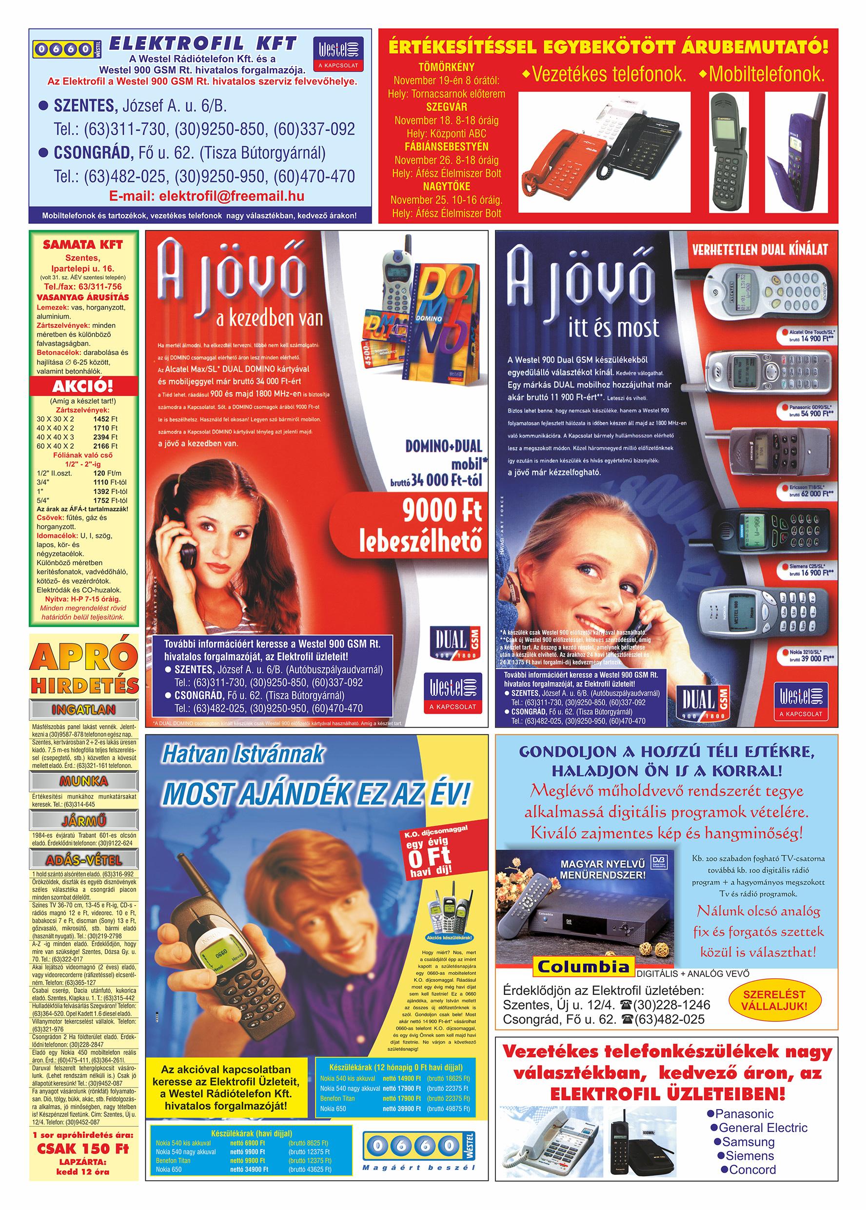 069 Tuti Tipp Extra reklámújság - 19991113-021. lapszám - 3.oldal - V. évfolyam.jpg