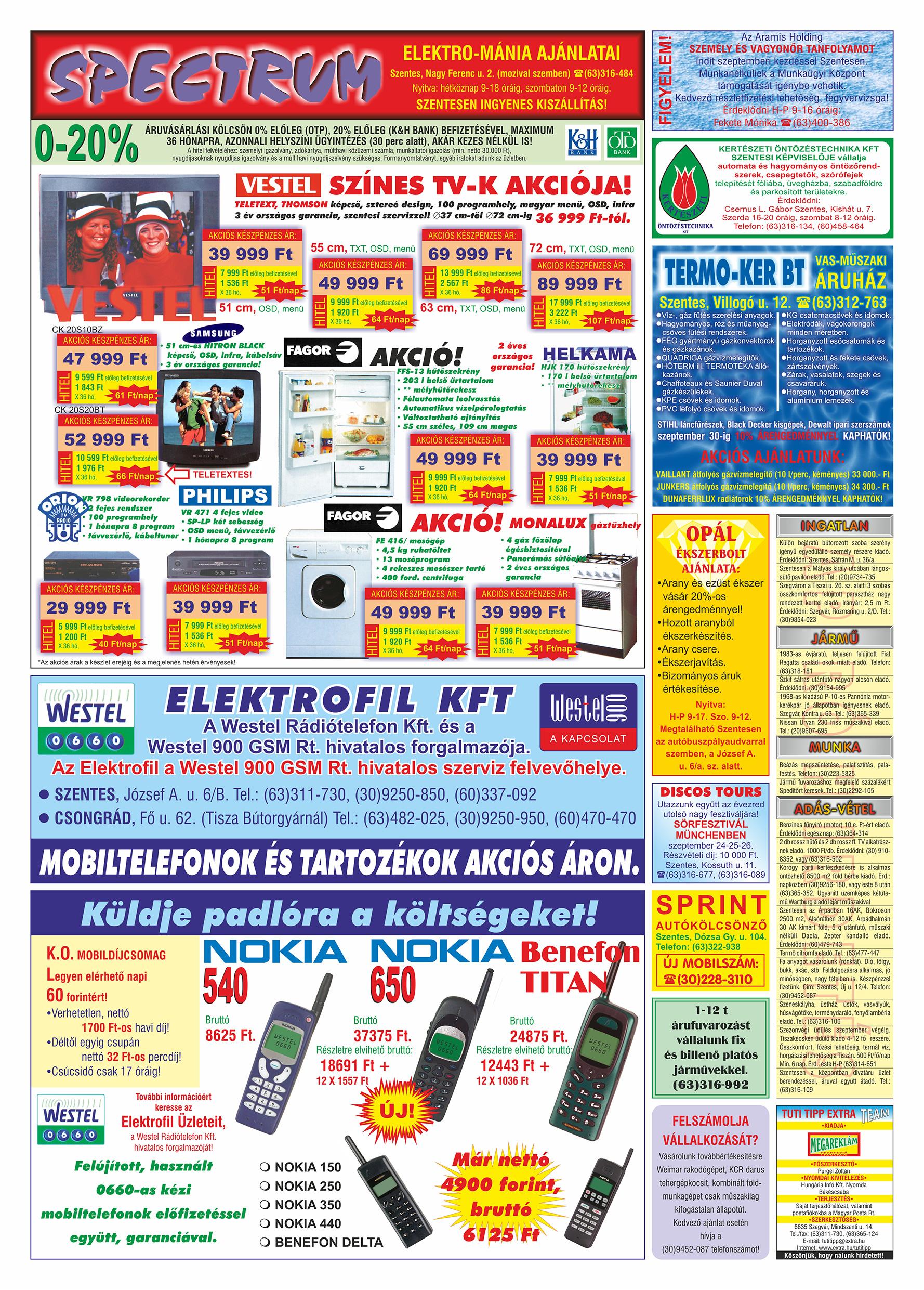 048 Tuti Tipp Extra reklámújság - 19990904-011. lapszám - 2.oldal - V. évfolyam.jpg