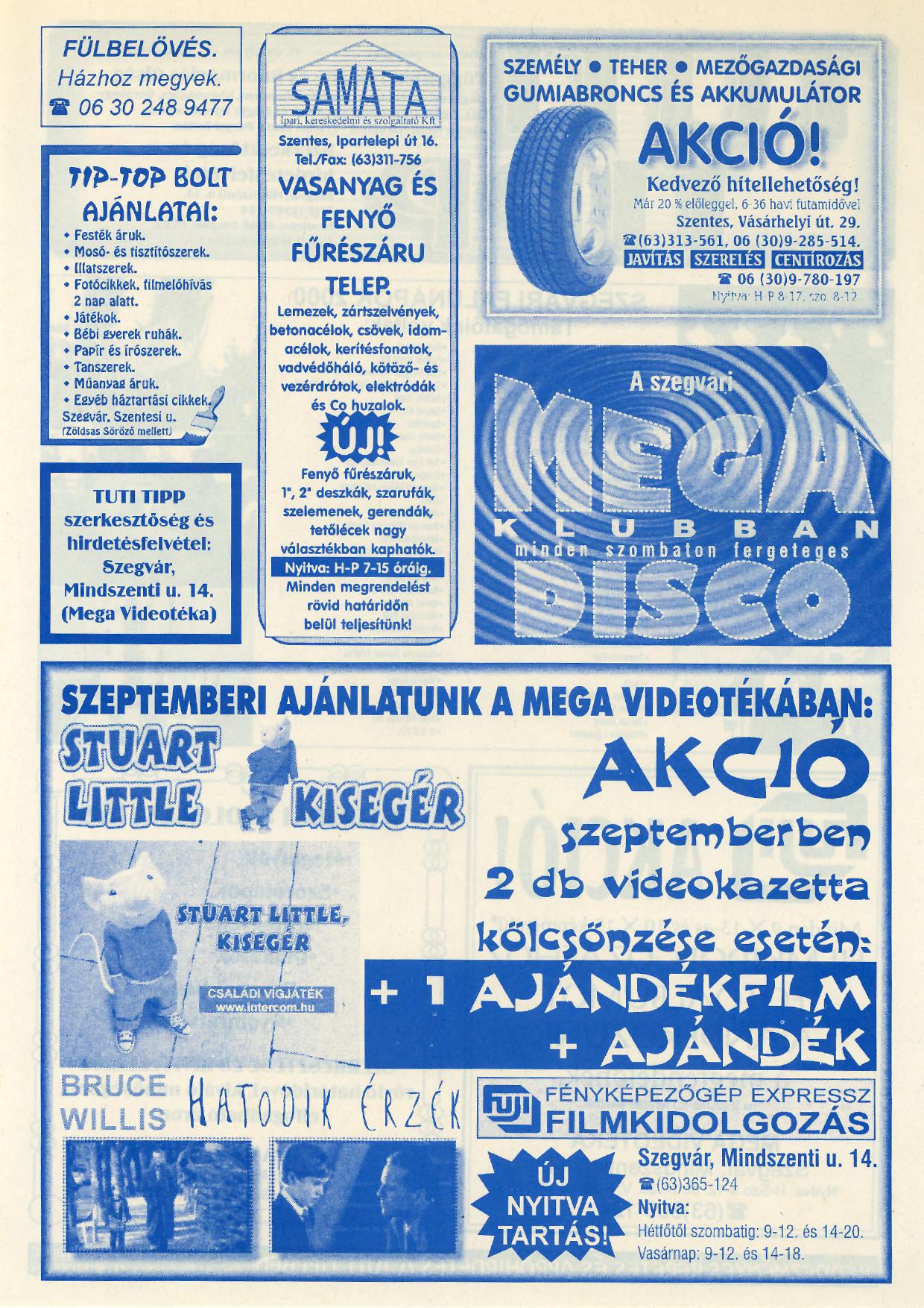 018 Tuti Tipp reklámújság - 200009-132. lapszám - 2.oldal - VI. évfolyam.jpg
