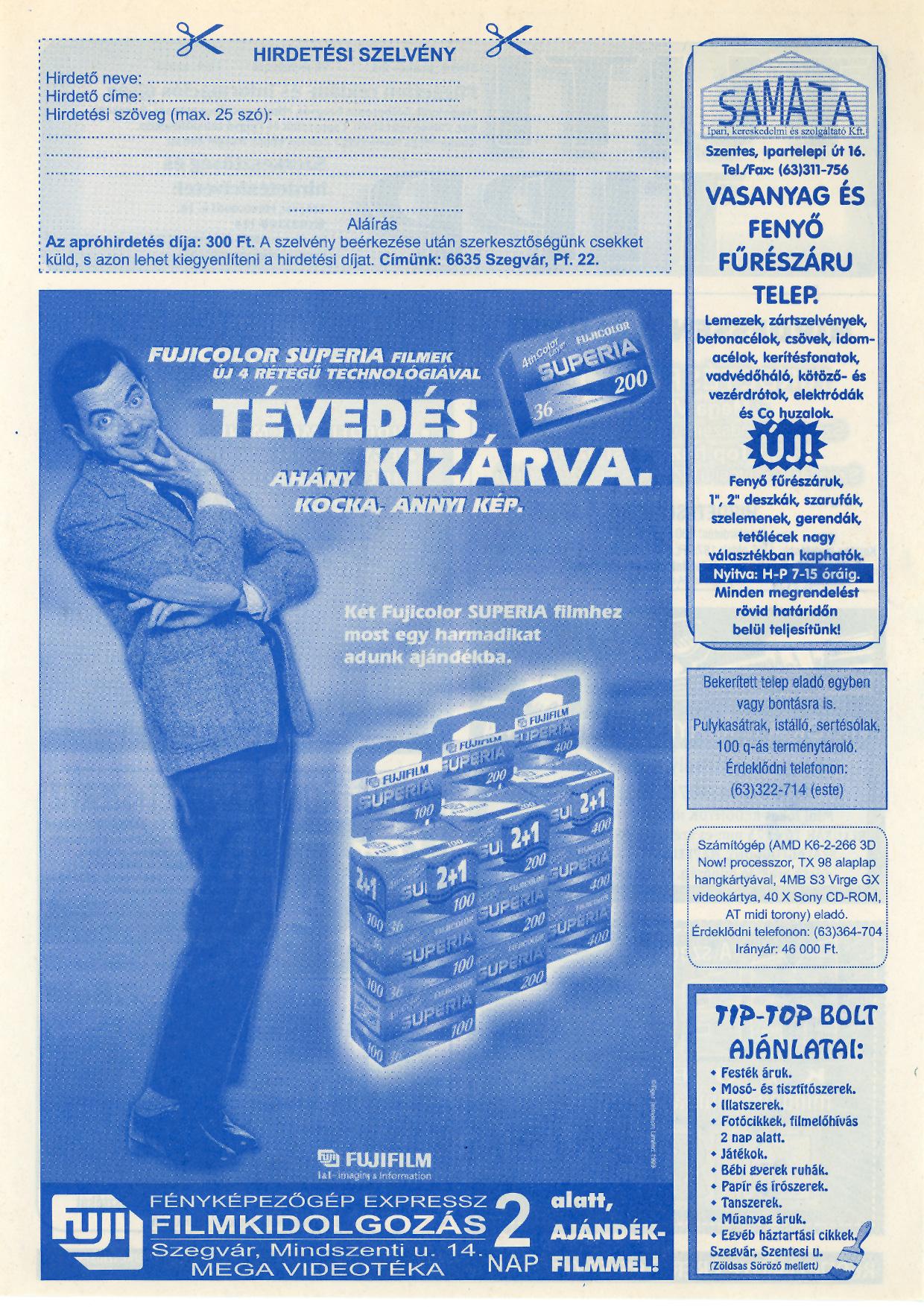 012 Tuti Tipp reklámújság - 20000624-129. lapszám - 2.oldal - VI. évfolyam.jpg
