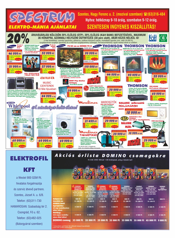 002 Tuti Tipp Extra reklámújság - 20000205-027. lapszám - 2.oldal - VI. évfolyam.jpg