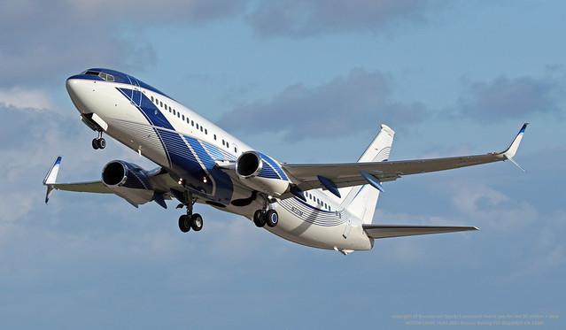 N737M LMML 18-01-2021 Private Boeing 737-8EQ(BBJ2) CN 33361