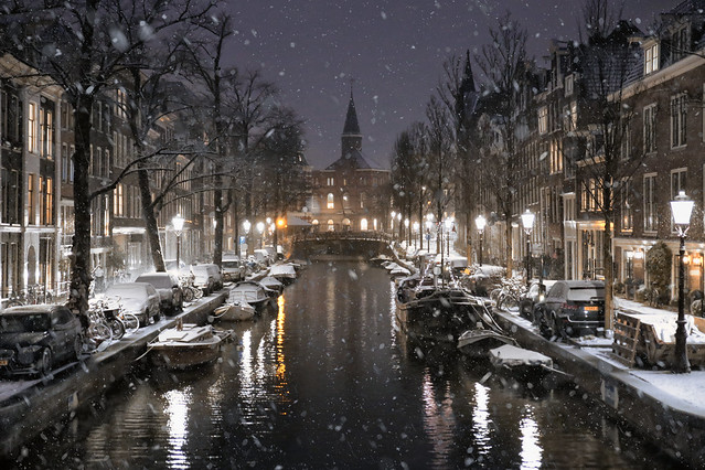 Snow in Amsterdam is a rare highlight in the dark days of our Covid lockdown