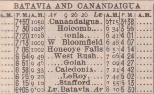Batavia Canandaigua 1926